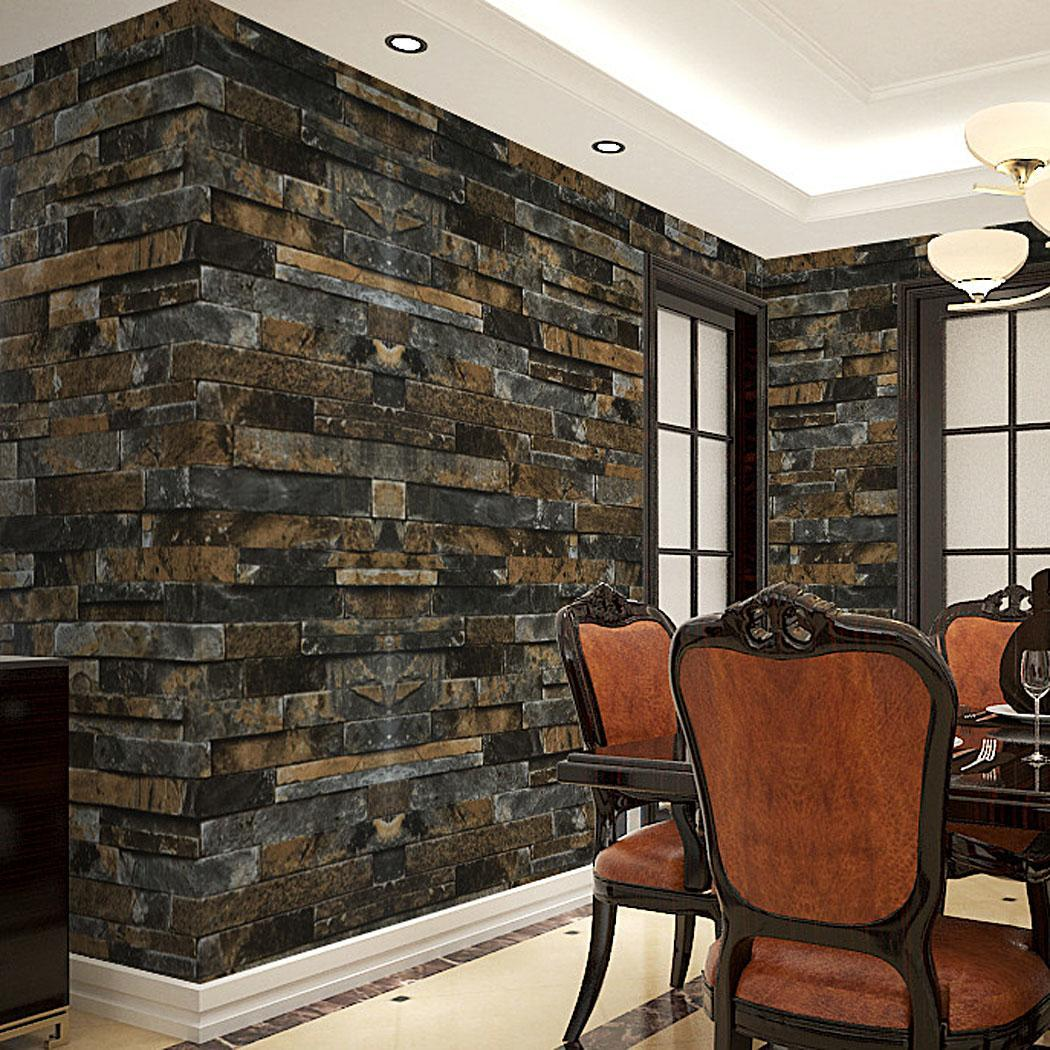 10m Roll Homdox Brick Stone Wallpaper 3d Look Faux Vinyl