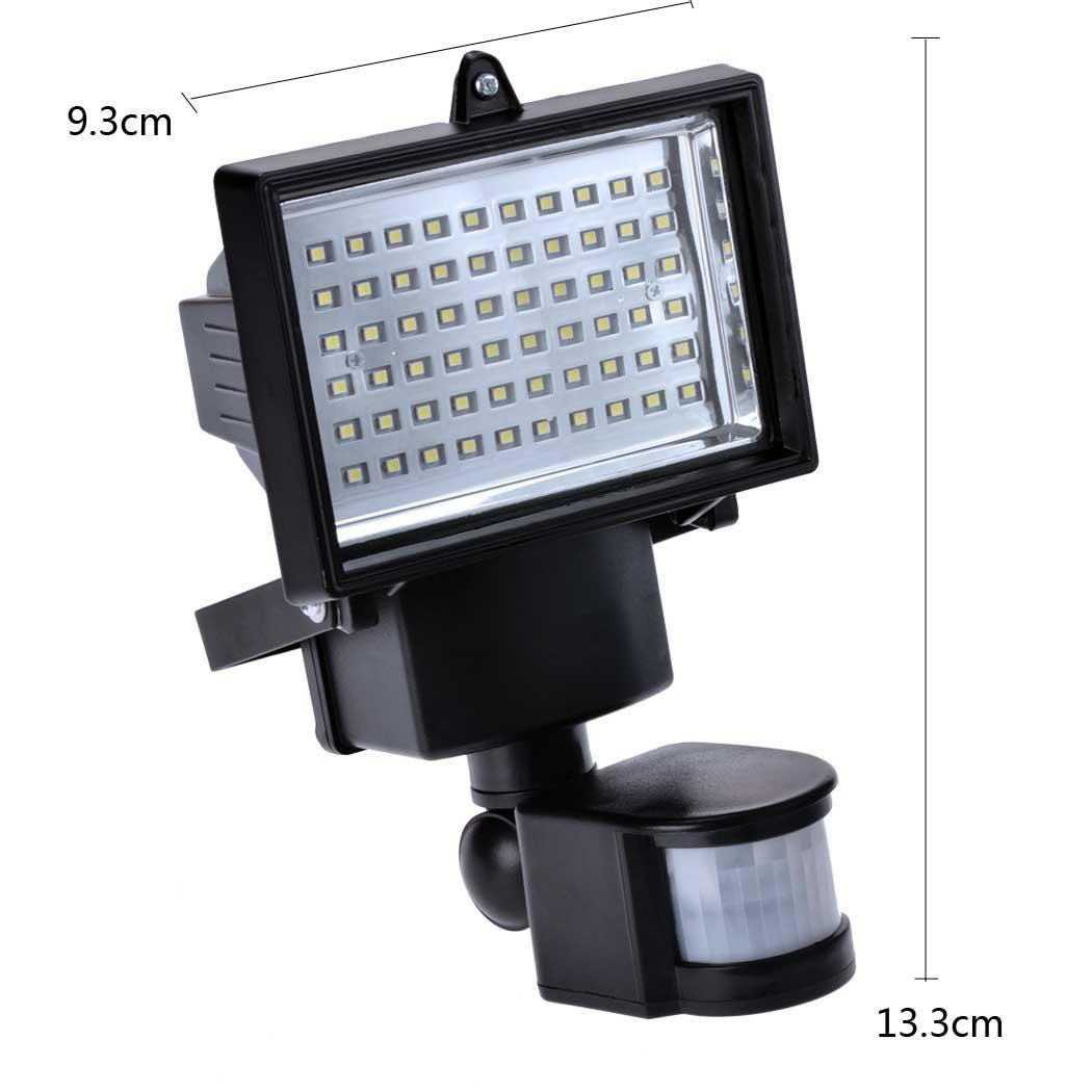 Compare Outdoor Security Lights: New Solar Powered Motion Activated Floot Light Outdoor