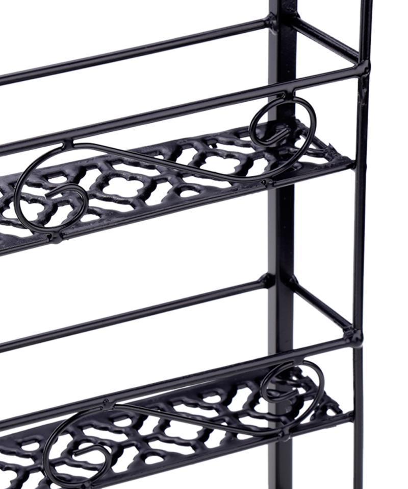 new 6 tier metal wire nail polish display wall rack stand