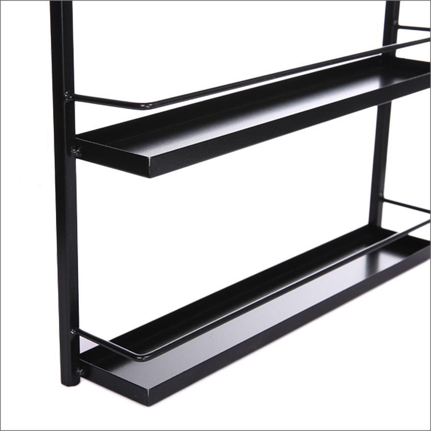 50 bottles nail polish display shelf mounted rack organizer stand holder black ebay. Black Bedroom Furniture Sets. Home Design Ideas